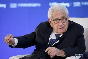 Former US secretary of state Henry Kissinger attends a conversation at the 2019 New Economy Forum in Beijing on Nov 21, 2019.