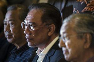A photo taken on Nov 23, 2019, shows Parti Keadilan Rakyat president Anwar Ibrahim during a press conference in Putrajaya.