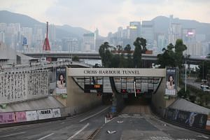 The Cross-Harbour Tunnel was shut after protesters occupied a nearby university campus last week.