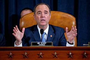 US House of Representatives Intelligence Committee Chairman Adam Schiff making a closing statement during an impeachment inquiry hearing in Washington DC on Nov 21, 2019.