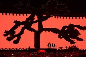 Irish rock band U2 perform during their Joshua Tree tour at the SCG in Sydney, on Nov 22, 2019.