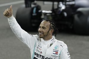 The pole was Lewis Hamilton's first since Germany in July.
