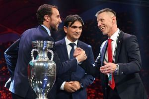 (From left) head coach of England Gareth Southgate, head coach of Croatia Zlatko Dalic and head coach of Czech Republic Jaroslav Silhavy at the draw.