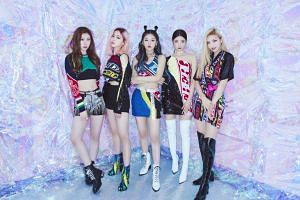 (From left) Chaeryeong, Ryujin, Yeji, Lia and Yuna of rookie K-pop girl group Itzy will come to Singapore for a showcase in December.