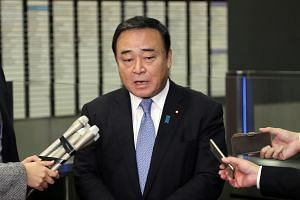 Japanese Trade Minister Hiroshi Kajiyama repeated Tokyo's stance that Japan could address the issue of its export controls once South Korea takes appropriate action on its own management of export controls.