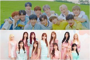 Evidence has surfaced that the line-ups of X1 (top) and Iz*One were already finalised by producers of Korean TV shows to unearth new singing talent before the viewers cast their votes.