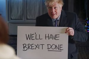 British Prime Minister Boris Johnson in a scene from the Conservatives' election video.