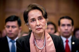 Myanmar's leader Aung San Suu Kyi denied that the army had killed civilians, raped women and torched houses in 2017.
