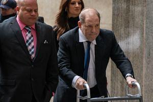 Weinstein arrives at criminal court on Dec 11, 2019 in New York City.