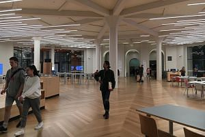 """The new """"quad"""" that marks the gateway to the newly refurbished State Library Victoria in Melbourne. The 163-year-old library underwent an $82.3 million makeover."""