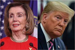 Speaker Nancy Pelosi (left) has put herself in an untenable position by stalling House-passed articles of impeachment against President Donald Trump.