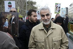 In a photo taken on Feb 11, 2016, commander of Iran's Quds Force Qassem Soleimani attends an annual rally commemorating the anniversary of the 1979 Islamic revolution in Teheran, Iran.
