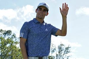 Chile's Joaquin Niemann fired seven birdies in a seven-under 66 to take a one-shot first-round lead.