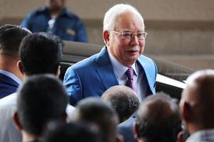 Former Malaysian PM Najib Razak arriving at the Kuala Lumpur High Court in December 2019.