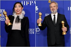 Awakwafina won Best Actress in a Motion Picture - Musical or Comedy while Sam Mendes picked up the Best Director prize for his work on 1917 at the Golden Globes.
