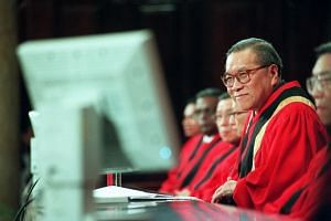 CJ Yong during the opening of the Legal Year 2000 at City Hall.