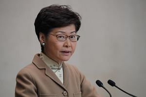 In this photo taken on Jan 7, 2020, Hong Kong Chief Executive Carrie Lam speaks during a news conference at the Office of the Chief Executive in Hong Kong.