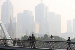 Smoke haze from the bush fires continues to hang over Melbourne, Australia, on Jan 15, 2020.