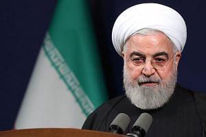Rouhani speaking in the Iranian capital Teheran on Jan 16, 2020.