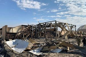 The damage at Ain al-Asad military air base housing US and other foreign troops in the western Iraqi province of Anbar on Jan 13, 2020.