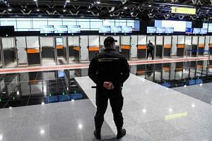 In Russia, at least four airports - Sheremetyevo (pictured) and Vnukovo in Moscow, as well as airports in Yekaterinburg and Irkutsk - have introduced screening measures to try to identify infected passengers.