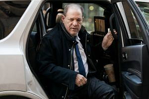 Weinstein arrives at the New York City Criminal Court on Jan 21, 2020 in New York City.