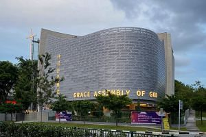 The Grace Assembly of God church's premises in Tanglin. The church is now the biggest cluster, with 13 confirmed cases.