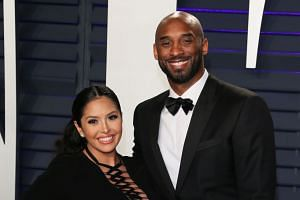 In this file photo taken on Feb 24, 2019, NBA star Kobe Bryant and wife Vanessa Laine Bryant attend the 2019 Vanity Fair Oscar Party following the 91st Academy Awards at The Wallis Annenberg Center for the Performing Arts in Beverly Hills.