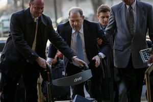 Weinstein arriving at the New York court where his case was being heard on Feb 24, 2020.
