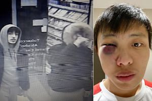 Images of two of the four men who allegedly assaulted Singaporean Jonathan Mok in a coronavirus-related racist attack on Feb 24, 2020.