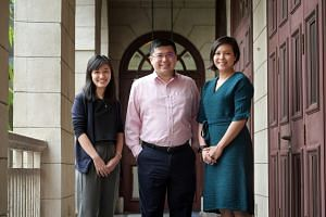 (From left) Ministry of Foreign Affairs officers Hsu Jing Yi, Philip Ong and Amelia Wong.