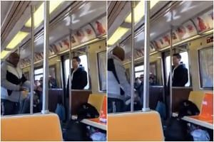 An African-American passenger in Brooklyn began shouting and cursing because an Asian man was standing close to him on the subway.