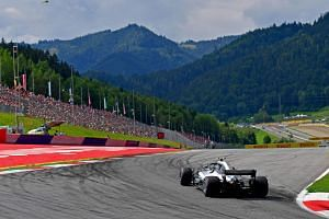 Mercedes' Valtteri Bottas steers his car during the qualifying session for the 2018 Austrian grand prix.