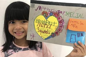 Five-year-old Natalie Rai (above) is treating her mum to a special breakfast menu at