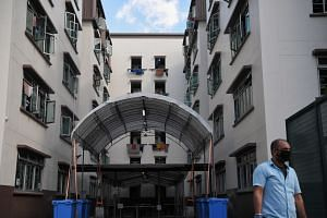 Foreign workers staying in dormitories form the bulk of the Covid-19 cases here.