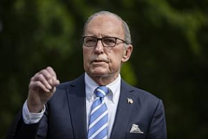 White House economic adviser Larry Kudlow addresses a news conference at the White House on May 15, 2020.