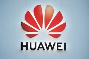 The logo of Huawei is seen in Davos, Switzerland January 22, 2020.