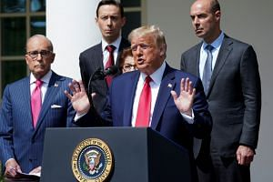 President Donald Trump addresses a news conference at the White House in Washington, on June 5, 2020.