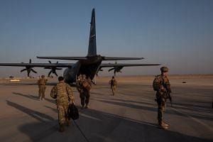 American troops at Camp Shorabak in Helmand province, Afghanistan, Sept 26, 2019.