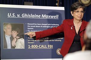 The arrest of Ghislaine Maxwell is announced at a news conference in New York on July 2, 2020.