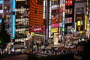 A photo of the entertainment district of Kabukicho in Tokyo, on June 24, 2020.