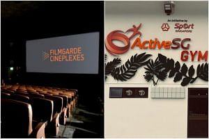 A FilmGarde cinema in Bugis+ and an ActiveSG Gym at Fernvale Square have been added to the list of places visited by Covid-19 patients while they were infectious.
