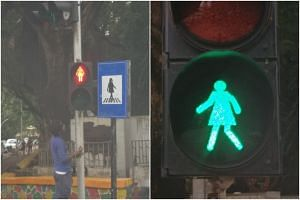 Authorities are swapping the green and red male stick figures on more than 100 pedestrian crossings to female figures.