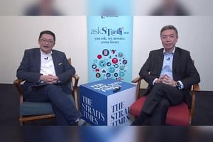 ST invest editor Tan Ooi Boon (left) and chief executive of financial advisory firm SingCapital Alfred Chia gave tips on how to manage your finances wisely.