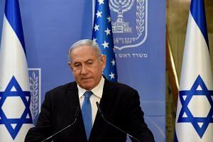 Israeli Prime Minister Benjamin Netanyahu in Jerusalem on Aug 24, 2020.