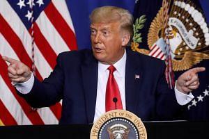 US President Donald Trump speaks during a roundtable in Kenosha, US, on Sept 1, 2020.