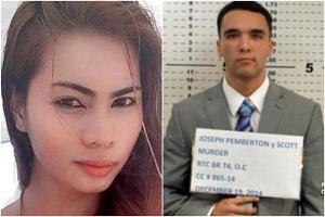 Joseph Scott Pemberton (right) was found guilty of homicide for killing Mr Jeffrey Laude in a drunken rage inside a motel in Olongapo city.