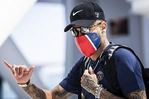 Paris Saint-Germain star Neymar has assured fans that he and his son, who also tested positive, are fine. PHOTO: AGENCE FRANCE-PRESSE