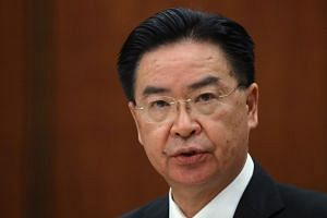 Taiwan's foreign minister Joseph Wu (above, in a file photo) was speaking to the France 24 TV station.