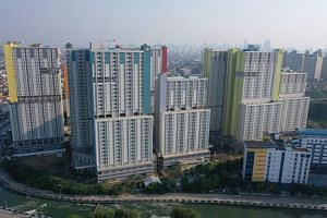 The athletes' village Wisma Atlet in Jakarta has 10 towers, with four being used to treat Covid-19 patients.
